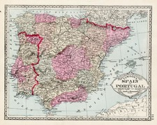 Europe, Spain and Portugal Map By H.C. Tunison
