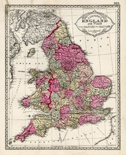 Europe and British Isles Map By H.C. Tunison