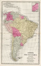 South America Map By H.C. Tunison