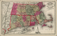 New England Map By H.C. Tunison