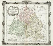 Germany Map By Louis Brion de la Tour