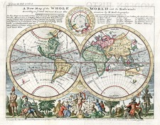 World and World Map By Herman Moll