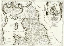 Europe and British Isles Map By Vincenzo Maria Coronelli