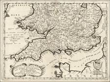 British Isles Map By Vincenzo Maria Coronelli