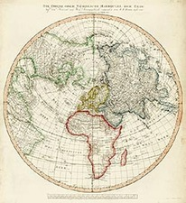 World, Eastern Hemisphere, Northern Hemisphere, Atlantic Ocean and Pacific Map By Tranquillo Mollo