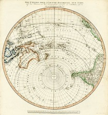 World, Southern Hemisphere, Polar Maps, Australia & Oceania, Pacific and Oceania Map By Tranquillo Mollo