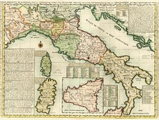 Europe and Italy Map By Henri Chatelain