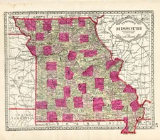 Midwest Map By H.C. Tunison