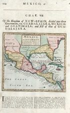 Southeast, Texas, Southwest and Central America Map By Herman Moll