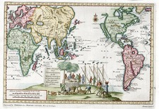 World, World, South America, Pacific and America Map By Pieter van der Aa