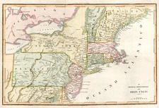 United States, New England and Mid-Atlantic Map By Anonymous