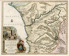 Africa and West Africa Map By Pieter van der Aa