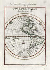 World, Western Hemisphere, South America and America Map By Alain Manesson Mallet