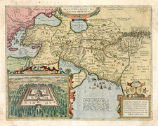 Europe, Mediterranean, Asia, Central Asia & Caucasus, Middle East and Turkey & Asia Minor Map By Abraham Ortelius