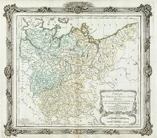 Europe and Germany Map By Louis Brion de la Tour