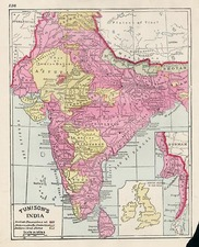 Asia and India Map By H.C. Tunison