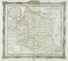 Europe, Germany, Poland, Russia and Baltic Countries Map By Louis Brion de la Tour