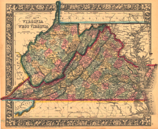 Southeast Map By William Rand  &  Andrew McNally