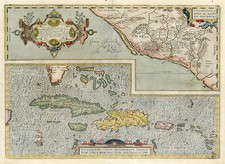 Southeast, Mexico and Caribbean Map By Abraham Ortelius