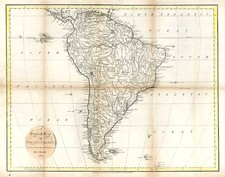 South America Map By John Russell