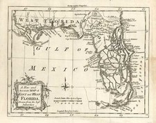 South and Southeast Map By London Magazine