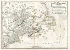 New England, Mid-Atlantic and Canada Map By Richard Holmes Laurie  &  James Whittle