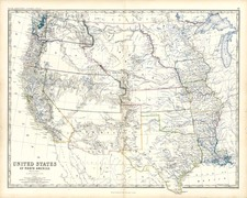 Plains, Southwest and Rocky Mountains Map By W. & A.K. Johnston