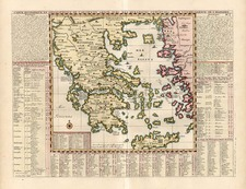 Europe, Greece and Balearic Islands Map By Henri Chatelain
