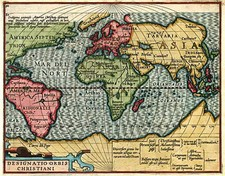 World and World Map By Jodocus Hondius  &  Gerhard Mercator