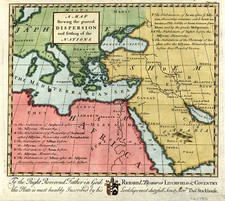 Europe, Europe, Mediterranean, Asia, Middle East and Holy Land Map By Thomas Stackhouse