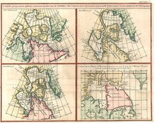 World, Polar Maps and Canada Map By Denis Diderot / Didier Robert de Vaugondy