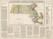 New England and Massachusetts Map By Jean Alexandre Buchon