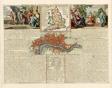 Europe and British Isles Map By Henri Chatelain
