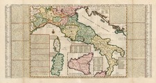 Europe, Italy and Balearic Islands Map By Henri Chatelain