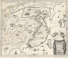 Asia, China, Japan and Korea Map By Johan Nieuhof