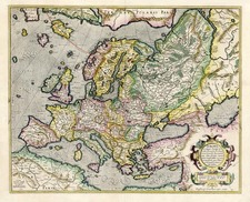 Europe and Europe Map By Gerhard Mercator