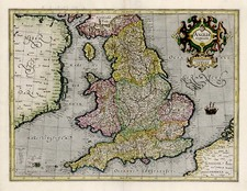 Europe and British Isles Map By Gerhard Mercator
