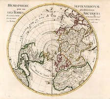 World, Northern Hemisphere, Polar Maps and Pacific Map By Guillaume De L'Isle