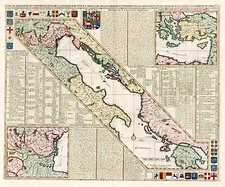 Europe, Balkans, Italy, Greece and Mediterranean Map By Henri Chatelain
