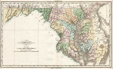 Mid-Atlantic Map By Jean Alexandre Buchon