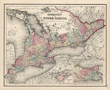 Midwest and Canada Map By Joseph Hutchins Colton