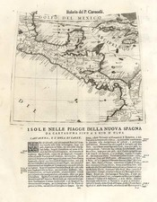 Caribbean and Central America Map By Vincenzo Maria Coronelli