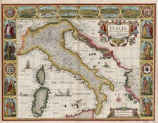 Europe, Balkans, Italy, Mediterranean and Balearic Islands Map By John Speed