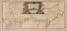 Polar Maps, Central Asia & Caucasus and Russia in Asia Map By Jean-Baptiste Bourguignon d'Anville