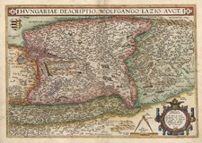 Europe, Austria, Hungary, Romania and Balkans Map By Abraham Ortelius