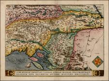 Balkans Map By Abraham Ortelius