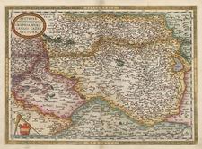 Europe, Austria, Hungary and Czech Republic & Slovakia Map By Abraham Ortelius