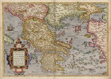 Europe, Balkans, Greece and Balearic Islands Map By Abraham Ortelius