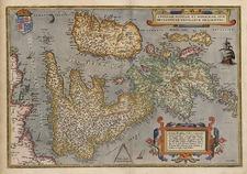 Europe and British Isles Map By Abraham Ortelius