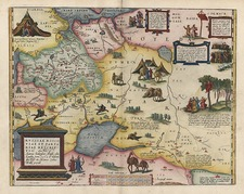 Europe, Russia, Asia, India, Central Asia & Caucasus and Russia in Asia Map By Abraham Ortelius